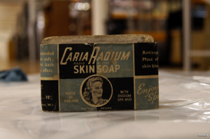 Cardia Radmium skin soap (Science Museum London)